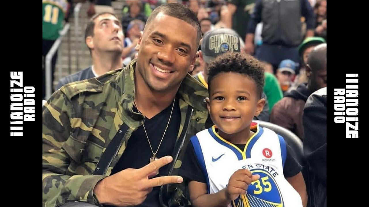 Russell Wilson with his stepson Baby Future