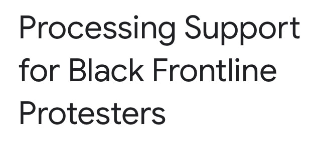 Free virtual support offered for Black frontline protesters in Chicago.